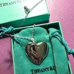 Tiffany and Co double heart necklace